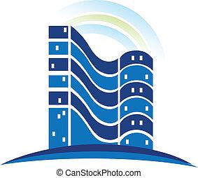 reale, logotipo, costruzioni, proprietà