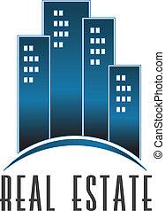 reale, logotipo, costruzioni, vettore, proprietà