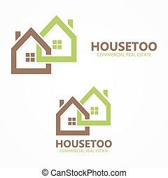 reale, logotipo, o, proprietà, icona