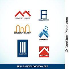 reale, set, logotipo, proprietà