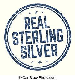 reale, sterlina, francobollo, segno, o, argento
