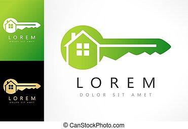 reale, vector., proprietà, chiave camera, logotipo, design.