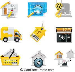 reale, vettore, proprietà, icons., p.2