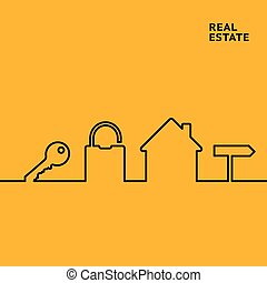 Realestate line infographics