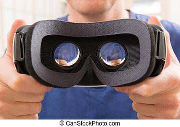 realidade virtual, headset