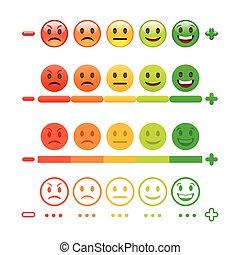 realimentação, emoticon, bar., realimentação, emoji.