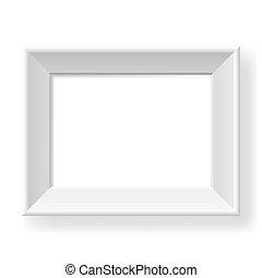 realista, blanco, frame.