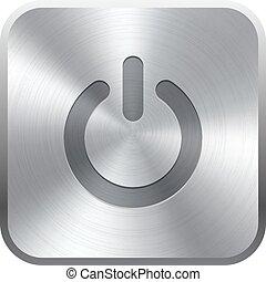 realista, botón,  metal