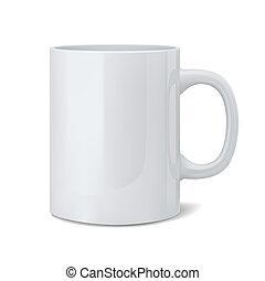 realista, clásico, taza blanca