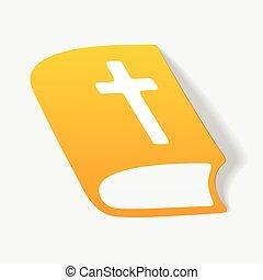 realista, diseño, element:, biblia