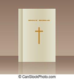 realista, diseño, element., biblia santa