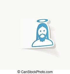 realista, diseño, element:, jesús