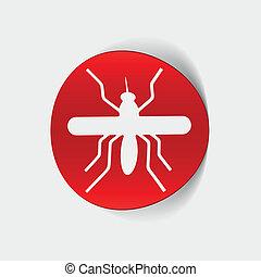 realista, element:, diseño, mosquito