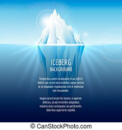 realista, iceberg, agua