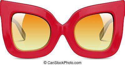 realista, ilustración, gafas de sol
