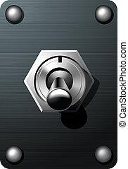 realista, interruptor basculador, vaso