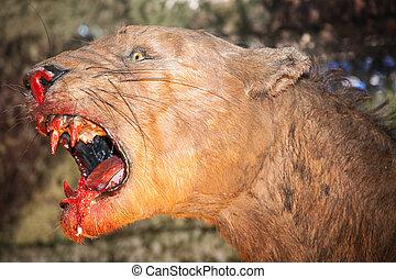 realista, modelo, animal prehistórico