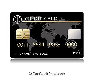 realista, tarjeta de crédito, vector