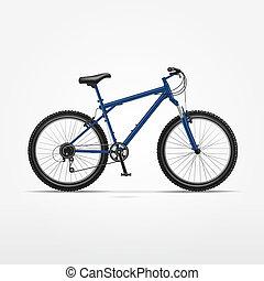 realista, vector, bicicleta, aislado