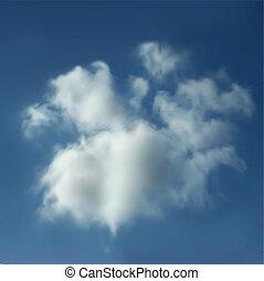 realista, vector, clouds.