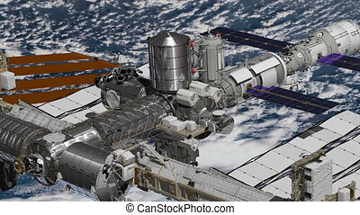 Realistic 3D Animation of International Space Station ISS...