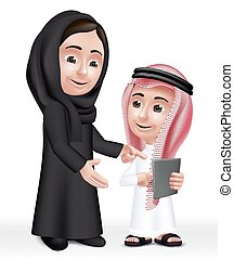 Arab Teacher Woman Character