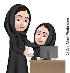 Arab Woman Teacher Character - Realistic 3D Arab Woman...