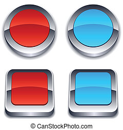 Realistic 3d buttons.