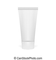 Realistic 3D Clear Tube Of Cream. EPS10 Vector