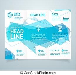 Realistic 3d Detailed Leaflet Booklet. Vector