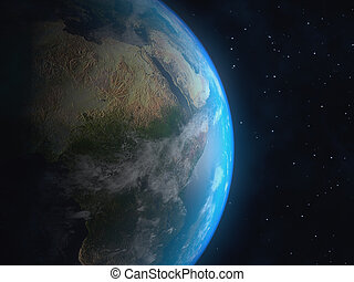 Realistic 3D Earth globe. Elements of this image furnished by NASA