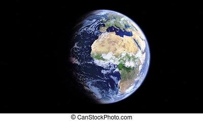 Realistic 3d globe, earth