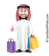 Realistic 3D Handsome Saudi Arab