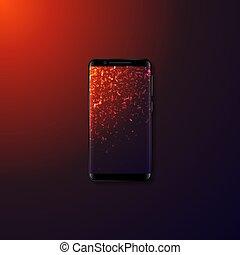 Realistic 3d mobile smartphone.