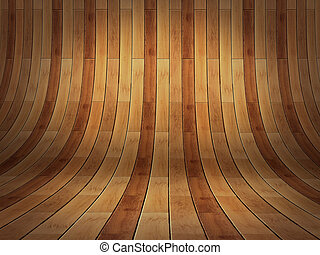 Realistic 3D presentation empty room - wood parket background te