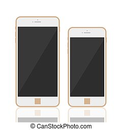 Realistic 3d smartphone template