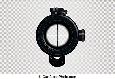Realistic 3D Sniper scope crosshair