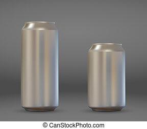 realistic aluminium can