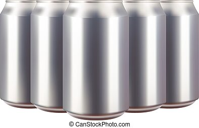 Realistic aluminium can vector illustration
