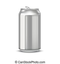realistic aluminum cans