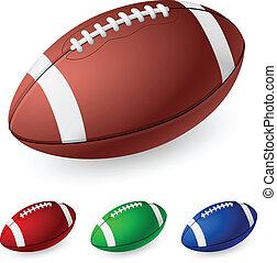 Realistic American football. Illustration on white ...