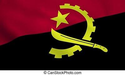 Realistic Angola flag