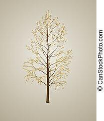 Realistic autumn tree background