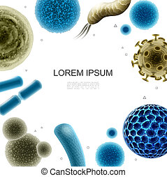 Realistic Bacteria And Viruses Template