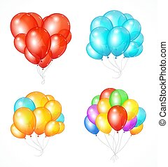 Realistic Balloon Set. Vector
