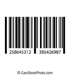 Realistic bar code icon.