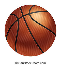 Realistic basketball - Computer-generated illustration:...