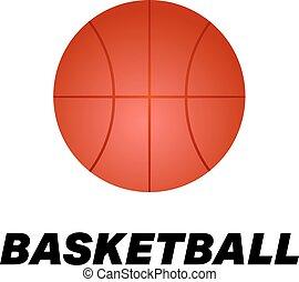 Realistic basketball icon. Logo