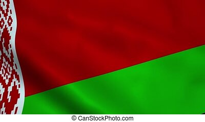 Realistic Belarus flag