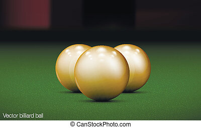 realistic billiard ball on a pool table